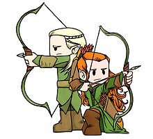 Little Legolas and Tauriel off on an Adventure by Jae Kitinoja