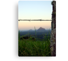 Land, mist and mountains Canvas Print