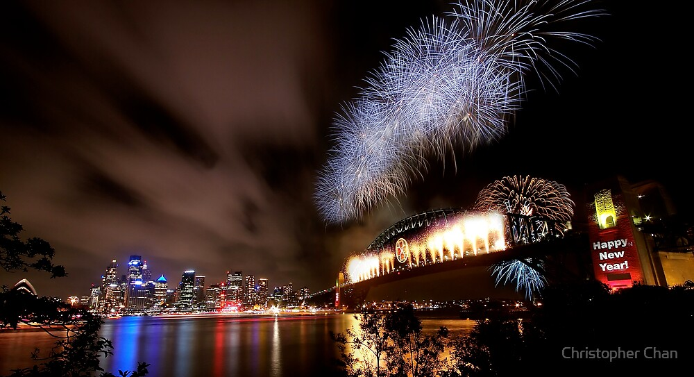 Sydney New Year's Eve Fireworks by Christopher Chan