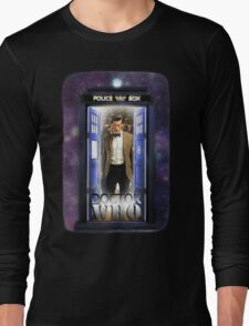 Ninth Doctor Blue Box T-Shirt / Hoodie Long Sleeve T-Shirt