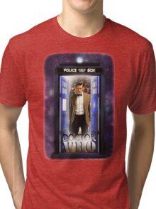 Ninth Doctor Blue Box T-Shirt / Hoodie Tri-blend T-Shirt