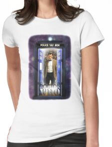 Ninth Doctor Blue Box T-Shirt / Hoodie Womens Fitted T-Shirt