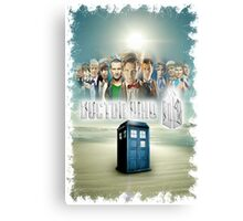 Blue Box Cover Tardis T-Shirt ? Hoodie Canvas Print