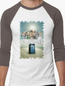 Blue Box Cover Tardis T-Shirt ? Hoodie Men's Baseball ¾ T-Shirt