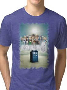 Blue Box Cover Tardis T-Shirt ? Hoodie Tri-blend T-Shirt