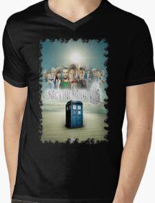 Blue Box Cover Tardis T-Shirt ? Hoodie Mens V-Neck T-Shirt