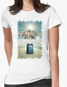 Blue Box Cover Tardis T-Shirt ? Hoodie Womens Fitted T-Shirt