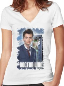 Nerdy Dr Who T-Shirt / Hoodie Women's Fitted V-Neck T-Shirt