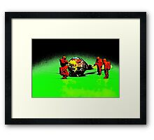 Toxic or treat? Framed Print