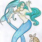 blue mermaid by louisaeet