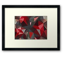 Abstract red and gray triangles Framed Print