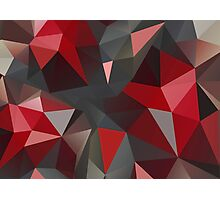 Abstract red and gray triangles Photographic Print