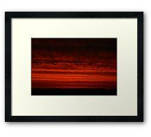 Red sky at night... Framed Print