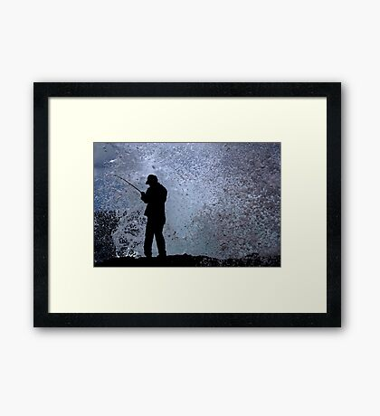 In A Split Second Framed Print