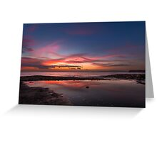 Brook Chine sunset Greeting Card