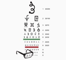 Alien eye chart by atorgon
