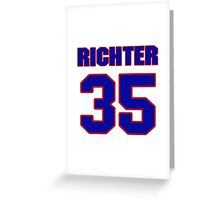 National Hockey player Mike Richter jersey 35 Greeting Card