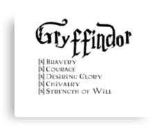 I'm a Gryffindor Canvas Print