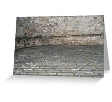 Cobbled courtyard Greeting Card