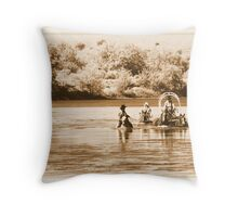 Snake River Crossing Throw Pillow