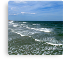 Waves of Myrtle Beach Canvas Print