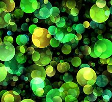 Green circles abstract design by lalylaura