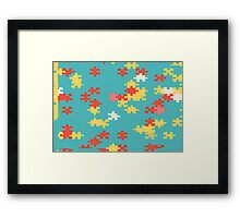Puzzle pieces abstract design Framed Print