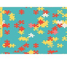 Puzzle pieces abstract design Photographic Print