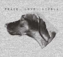 Peace, Love, Vizsla One Piece - Short Sleeve
