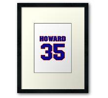 National Hockey player Jimmy Howard jersey 35 Framed Print
