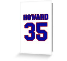 National Hockey player Jimmy Howard jersey 35 Greeting Card