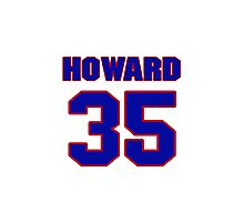 National Hockey player Jimmy Howard jersey 35 Photographic Print