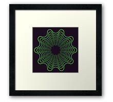 Green spirogram abstract design Framed Print