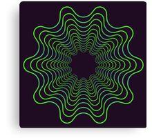 Green spirogram abstract design Canvas Print