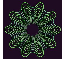 Green spirogram abstract design Photographic Print