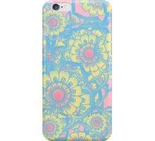 Pastel colored daisies iPhone Case/Skin