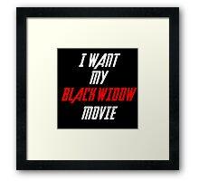 Black Widow Movie Sticker  Framed Print
