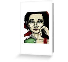 Smart lady Greeting Card