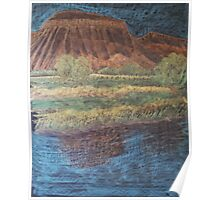 Mt. Garfield reflected in Colorado River Poster