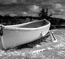 Lifeboat in Snow by Sandy  McClearn