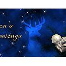 Season's Greetings Deer by jkartlife