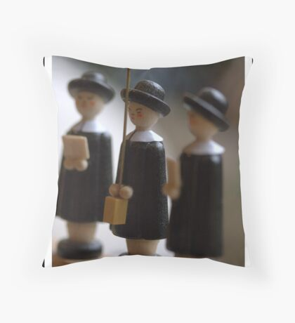 Carol Singers Throw Pillow