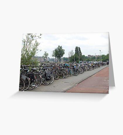 Amsterdam Bike Power Greeting Card
