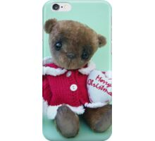 Tarquin, Christmas Bear. Handmade bears from Teddy Bear Orphans iPhone Case/Skin