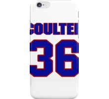 National Hockey player Neal Coulter jersey 36 iPhone Case/Skin