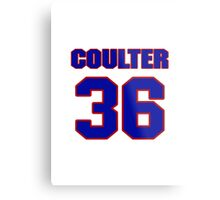 National Hockey player Neal Coulter jersey 36 Metal Print