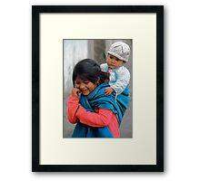 Siblings Framed Print