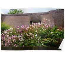Thatch and Flowers Poster