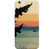 Boating at Sunset Digital Painting iPhone Case/Skin