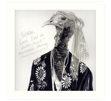 The Turkey That Lived on a Hill Art Print